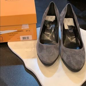 Tod's Grey Suede Shoes